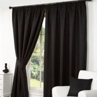 "See more information about the Fusion Waffle Curtains (45"" Width x 54"" Drop) - Black"