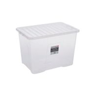 See more information about the 80L Wham Crystal Stacking Storage Clear Box & Clip Lid
