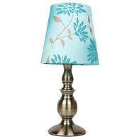 See more information about the Floral Table Lamp - Duck Egg Blue