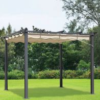 See more information about the Croft 3 x 3m Beige Pergola Summer Garden Gazebo