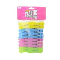 See more information about the 40 Plastic Clothes Pegs (Various Colours)