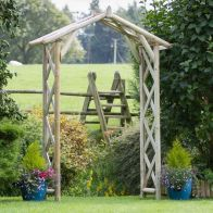 See more information about the Wooden Rustic Summer Arch