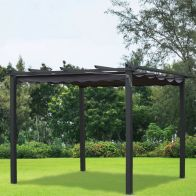 See more information about the Croft Pergola Replacement Cover Charcoal