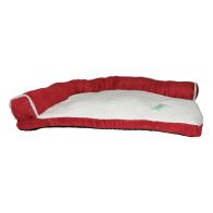 See more information about the Faux Suede Fur Corner Pet Bed 34x22x8 Red