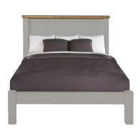 See more information about the Dovetale Oak Double Bed 4ft 6in Soft Grey Painted Bed Frame
