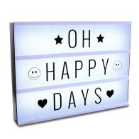 See more information about the Global Gismos LED Light Box (With Letters) 30 x 22 x 5.5cm