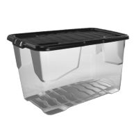 See more information about the 100L Curve Extra Large Clear Stacking Box & Black Lid
