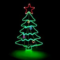 See more information about the 288 LED Multicoloured Outdoor Animated Christmas Tree Mains Rope Light