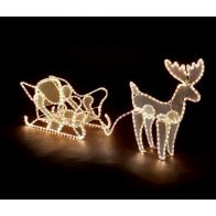 See more information about the 3D Single Reindeer & Sleigh LED Decorative Rope Christmas Light