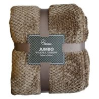 See more information about the Your Home 200 x 200cm Soft Cosy Waffle Light Brown Throw