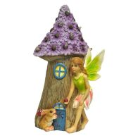 See more information about the Magical Garden Solar Powered Woodland Fairy House - Purple