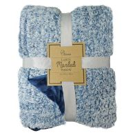 See more information about the Your Home 130x180cm Large Marled Blue Fleece Throw