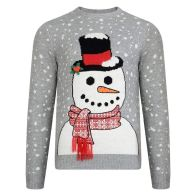 See more information about the Mens Snowman Christmas Jumper Small