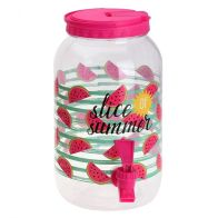See more information about the 3.75ltr  Drinks Dispenser Hello Summer - Pink