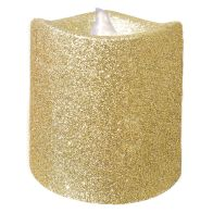 See more information about the 8cm LED Glitter Candle Gold