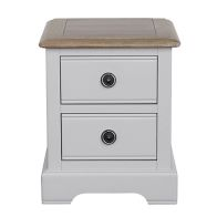 See more information about the Olivia Oak 2 Drawer Bedside Table