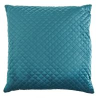 See more information about the Peacock Dim Out Cushion Embroided Velvet Style Cushion 45 x 45cm