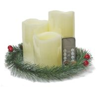See more information about the 3 LED Large Candle Set with Garland Remote Control