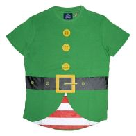 See more information about the Mens Elf Dress Up Christmas T-Shirt Small