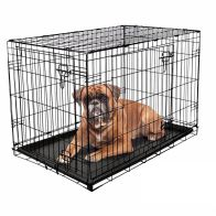 See more information about the RAC Fold Flat Metal Pet Crate Travel Carrier Large