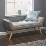 See more information about the Hopsack Fabric Milan Upholstered Bench Grey