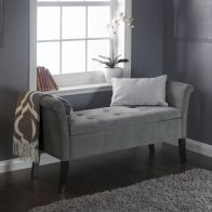 See more information about the Chenille Fabric Balmoral Window Seat Silver