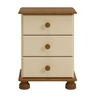 See more information about the 3 Drawer Cream and Pine Traditional Table Chest