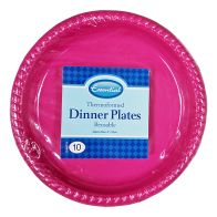 See more information about the Thermoform Dinner Plate 23cm (Pack 10) - Pink