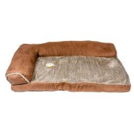 See more information about the Faux Suede Fur Corner Pet Bed 34x22x8 Brown