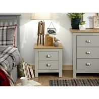See more information about the Lancaster 2 Drawer Bedside - Grey