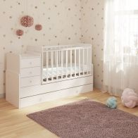 See more information about the Kudl 5 Drawer Kids Cot Bed White