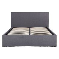 See more information about the Ascot Fabric King Size Bed 5ft Grey Ottoman Bed Frame