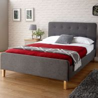 See more information about the Ashbourne Fabric Double Bed 4ft 6in Grey Bedstead
