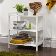 See more information about the Bergen 3 Tier Low Wide Open Shelving Unit White