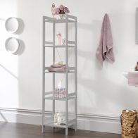See more information about the Bergen 5 Tier Tall Narrow Open Shelving Unit Grey