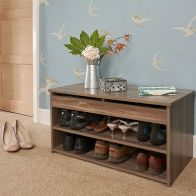 See more information about the Budget Walnut Finish Two Tier Shoe Storage Cabinet
