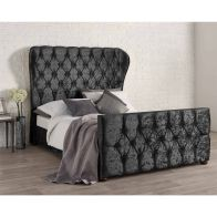 See more information about the Bellagio Velvet Black 4ft 6in Double Bed Frame