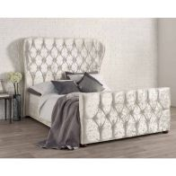 See more information about the Bellagio Velvet Pearl 4ft 6in Double Bed Frame