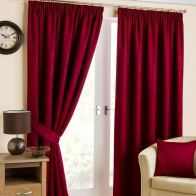 "See more information about the Fusion Belvedere Black Out Curtains (45"" Width x 54"" Drop) - Cranberry"