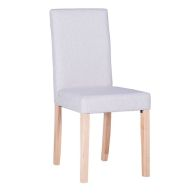 See more information about the Lancelot Straight Back Fabric Chair - White