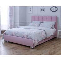 See more information about the Lansfield Canterbury Classic Pink 6ft Super King Size Bed Frame