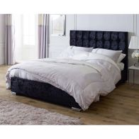 See more information about the Lansfield Gatsby Classic Black 6ft Super King Size Bed Frame