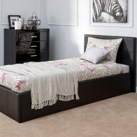 See more information about the Faux Leather Single Bed 3ft Black Ottoman Bed Frame