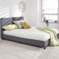 See more information about the Bugi 4ft 6in Double Bed In A Box Grey