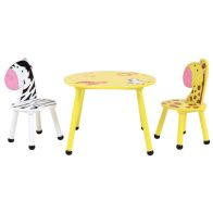 See more information about the 2 Seat Kids Jungle Safari Wooden Table & Chairs Set