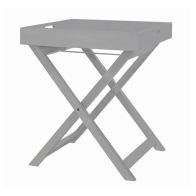 See more information about the Wooden Butlers Serving Tray & Stand - Grey
