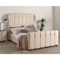 See more information about the Juliette Wing Back Linen Cream 4ft 6in Double Bed Frame
