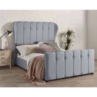See more information about the Juliette Wing Back Linen Blue 4ft 6in Double Bed Frame