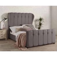 See more information about the Juliette Wing Back Linen Grey 4ft 6in Double Bed Frame