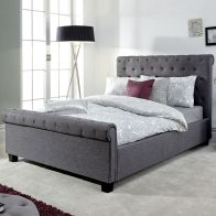 See more information about the Layla 4ft 6in Double Ottoman Bed Grey